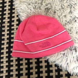 Girls north face pink beanie M